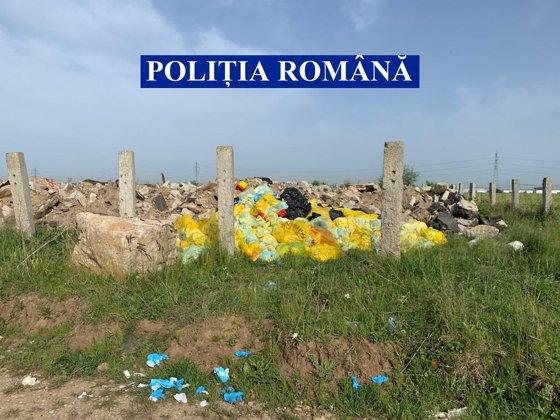"""Acţiunea """"Retrovirus"""". Sute de tone de materiale infestate cu COVID-19 au pus în pericol sănătatea românilor. Intervenţie de amploare a Poliţiei"""