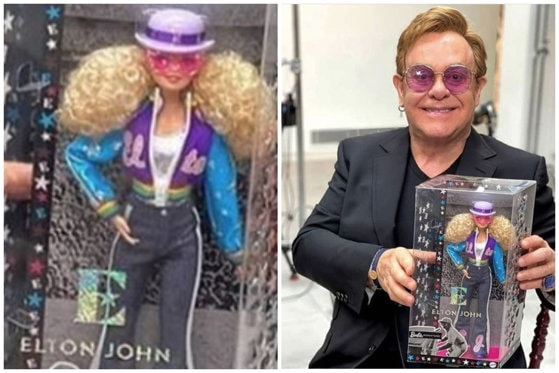 Elton John are propria păpuşă Barbie