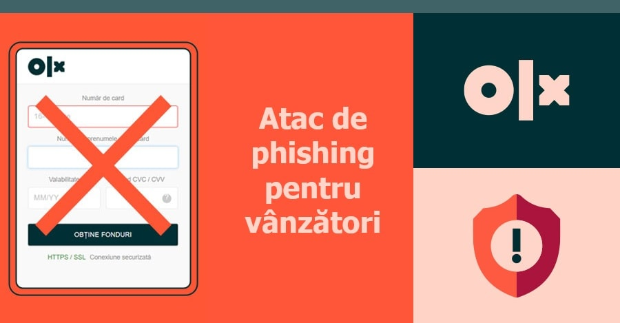 Alerta de phishing: pe OLX nu se fac plati online pentru produsele vandute sau cumparate
