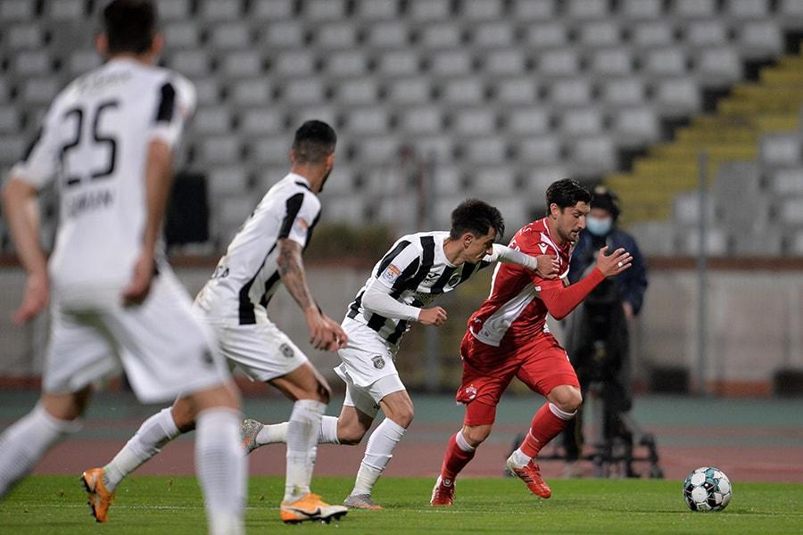 Dinamo este campioană…la goluri frumoase. Magaye Gueye a egalat pentru echipa lui Cosmin Contra din foarfecă