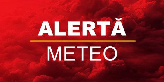 Alertă METEO. Cod galben valabil în şapte judeţe