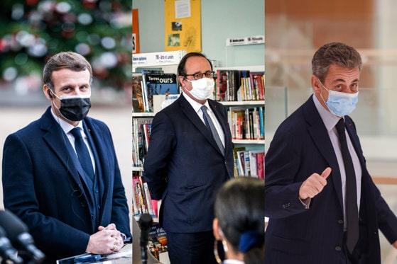 Emmanuel Macron, Francois Hollande şi Nicolas Sarkozy, uniţi de relaţia complicată cu taţii lor