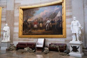 Un suporter Trump a dat târcoale instituţiilor din Washington | FOTO: mediafax.ro
