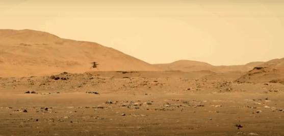 Elicopterul Ingenuity al NASA a zburat, mai mult şi mai sus, pe Marte
