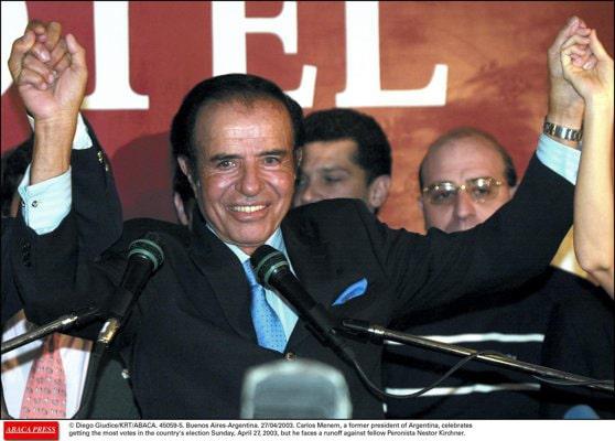 Fostul preşedinte argentinian Carlos Menem a murit