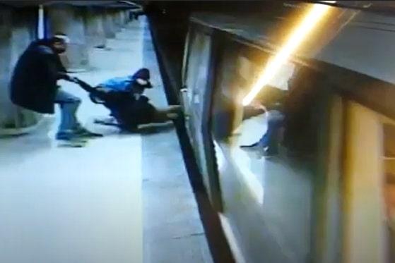 Incident tragic, evitat în ultima clipă în Capitală. O fată a fost salvată de pe şine în staţia de metrou Dristor